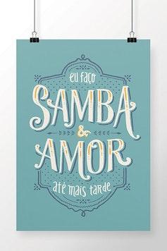 Poster Samba e Amor