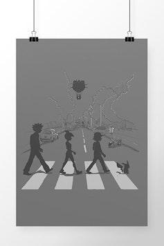 Poster Pallet Road