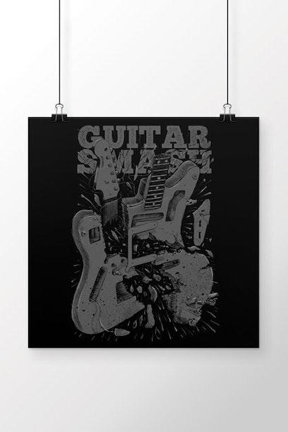 Poster Guitar Smash