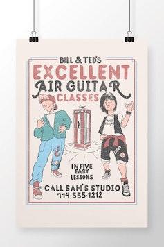 Poster Air Guitar Classes