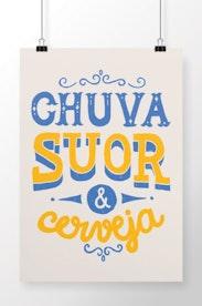 Poster Chuva, Suor e Cerveja