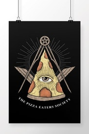Poster Society of Pizza Eaters