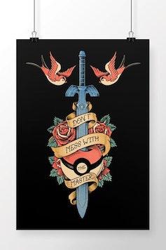 Poster Geek Tattoo