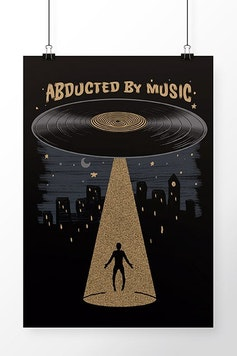 Poster Abducted by Music