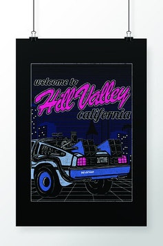 Poster Hill Valley