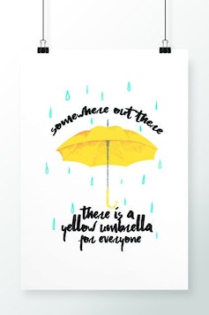 Poster Yellow Umbrella