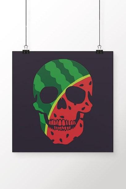 Poster Watermelon Skull
