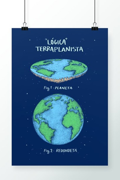 Poster Terra Plana