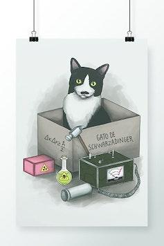 Poster Gato de Schwarzadinger