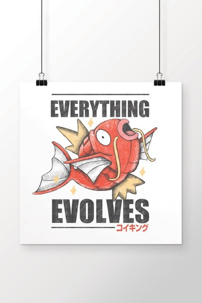 Poster Everything Evolves