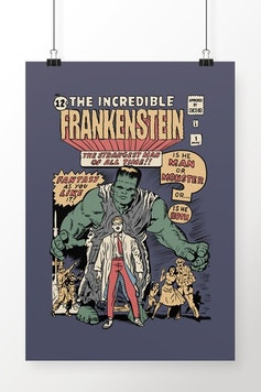 Poster The Incredible Frankenstein