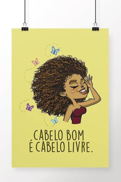 Poster Cabelo Livre