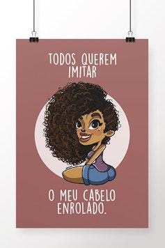 Poster Cabelo Enrolado
