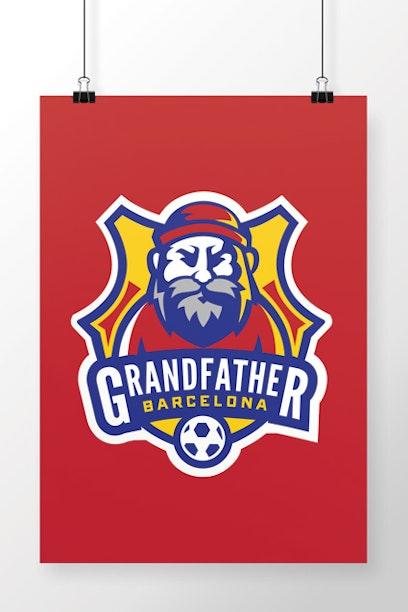 Poster Barcelona Grandfather