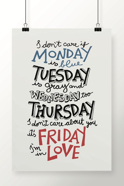 0e76d99b009 Poster Friday I m in Love - Chico Rei