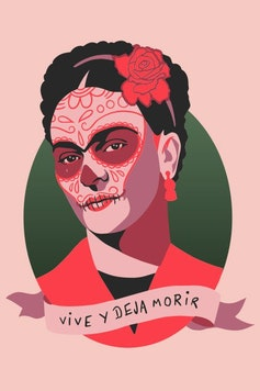 Estampa Regata Frida Kahlo