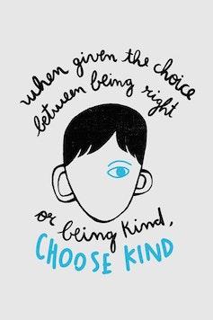 Estampa Sketchbook Being Kind