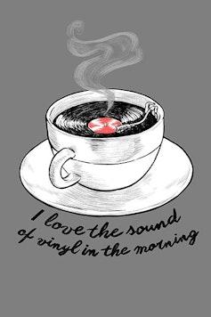 Estampa Sketchbook Sounds Like Coffee