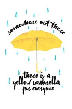 Estampa Sketchbook Yellow Umbrella