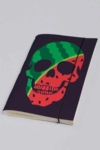 Sketchbook Watermelon Skull