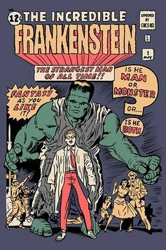 Estampa Sketchbook The Incredible Frankenstein